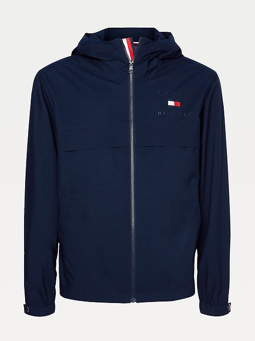 Lightweight Hooded Jacket in Navy