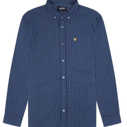 Lyle & Scott Gingham Shirt in Blue