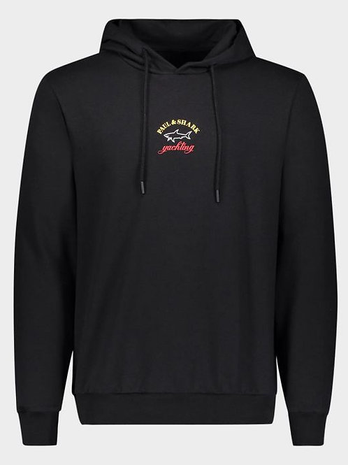 Centre logo hoodie in black