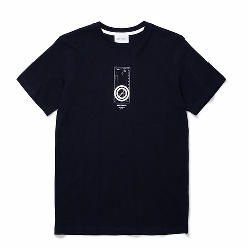 Niels Compass T-Shirt In Navy