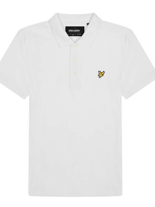 Lyle & Scott Plain Polo in White