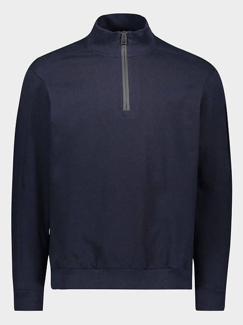 Cotton 1/4 Zip in Navy