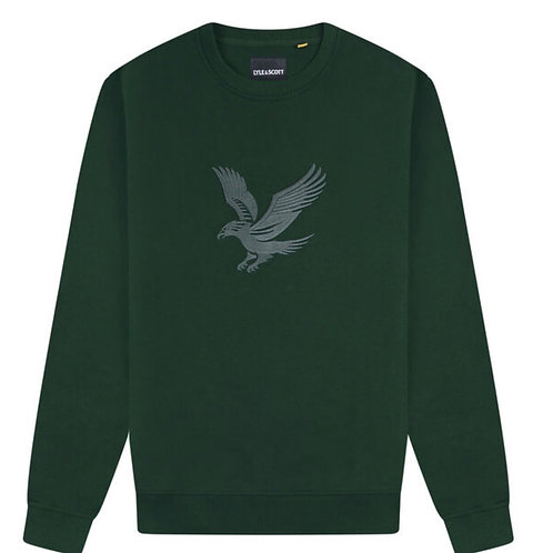 Lyle & Scott Embroidered Eagle Sweatshirt in Green