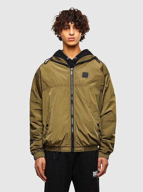 Hoodie Tech Jacket in Khaki