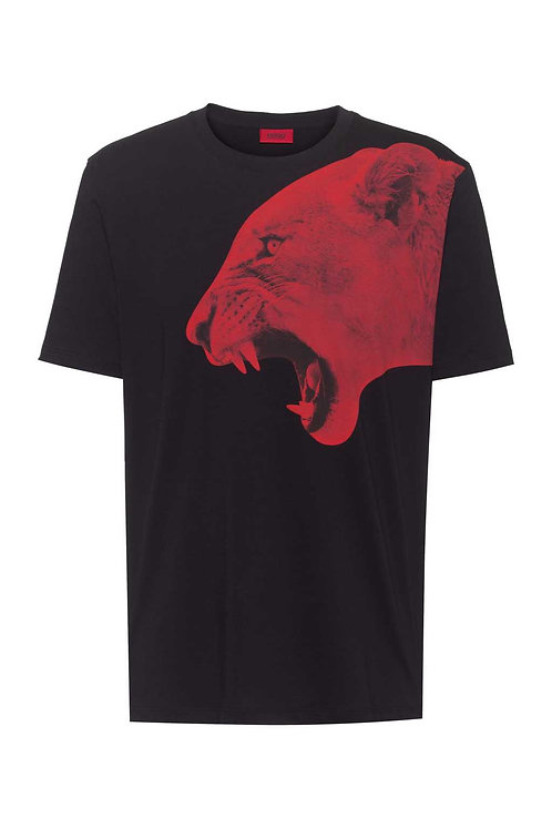 Regular-fit T-shirt in cotton with statement artwork