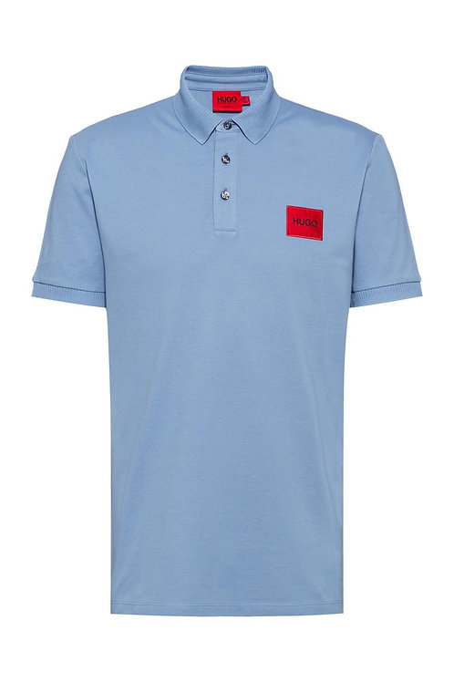Red Square Logo Slim Fit Polo in Light blue