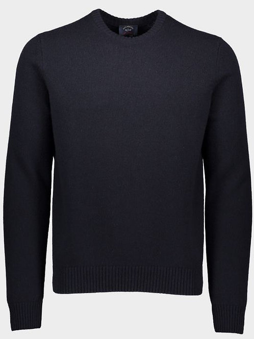Sleeve Patch Knitwear in Navy