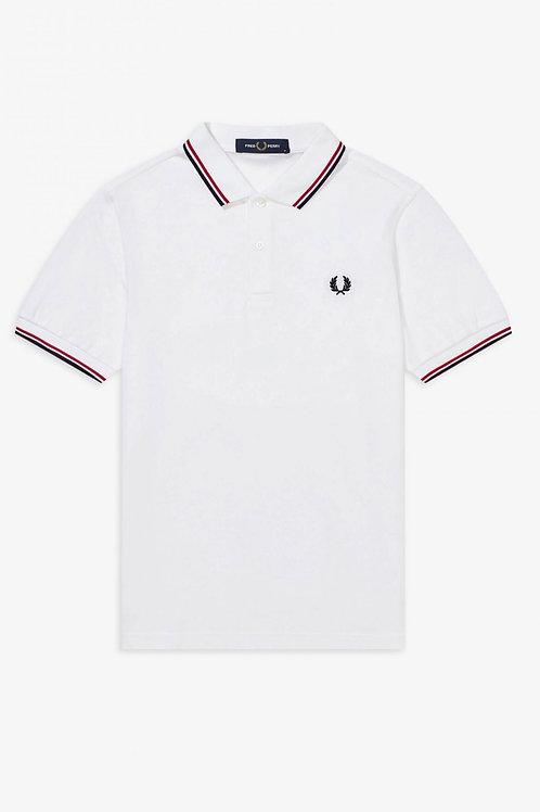 Twin Tipped Polo White/Red