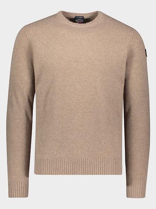 Sleeve Patch Knitwear in Beige