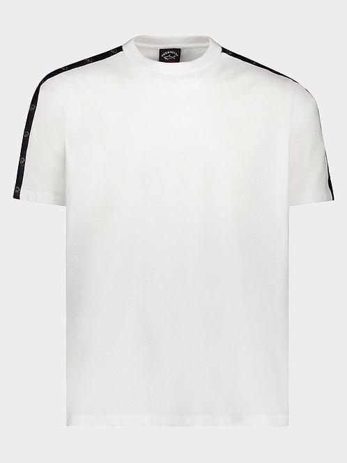 Sleeve Tape Logo T-Shirt In White