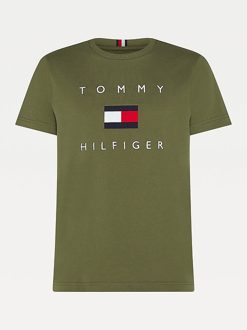 Cotton Flag T-shirt Green