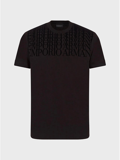 Repeated Logo T-Shirt in Black
