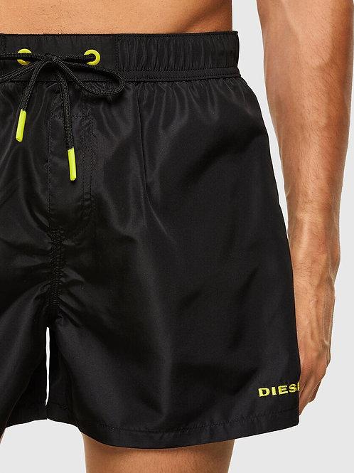 Mid Length Swim Shorts in Black