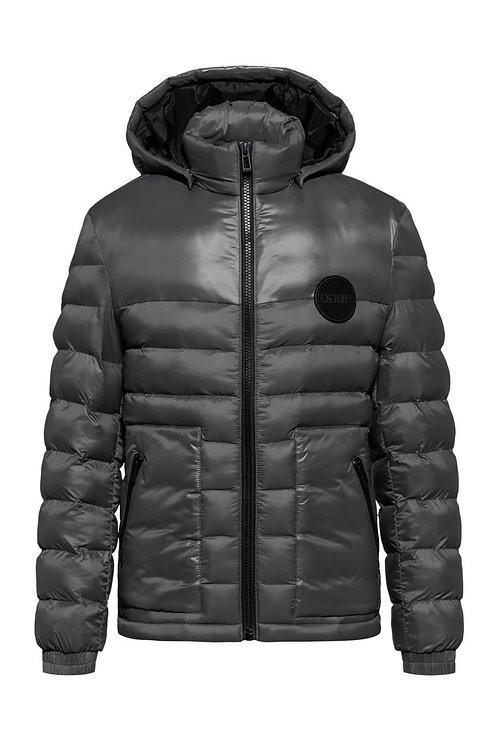 Slim-Fit Padded Jacket in Grey
