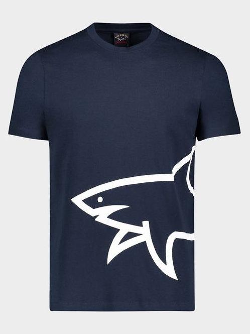 Mega Shark T-Shirt in Navy