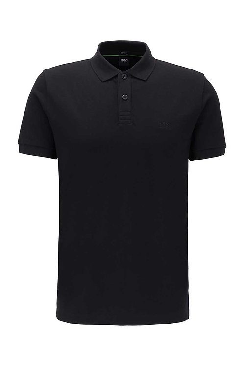 Regular-fit polo shirt in a Pima-cotton blend in black