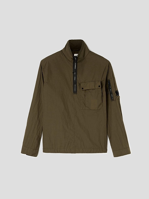 Garment Dyed Lens Overshirt in Ivy Green