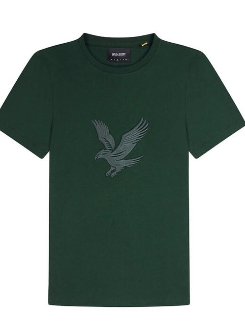 Lyle & Scott Embroidered Eagle T-shirt in Green