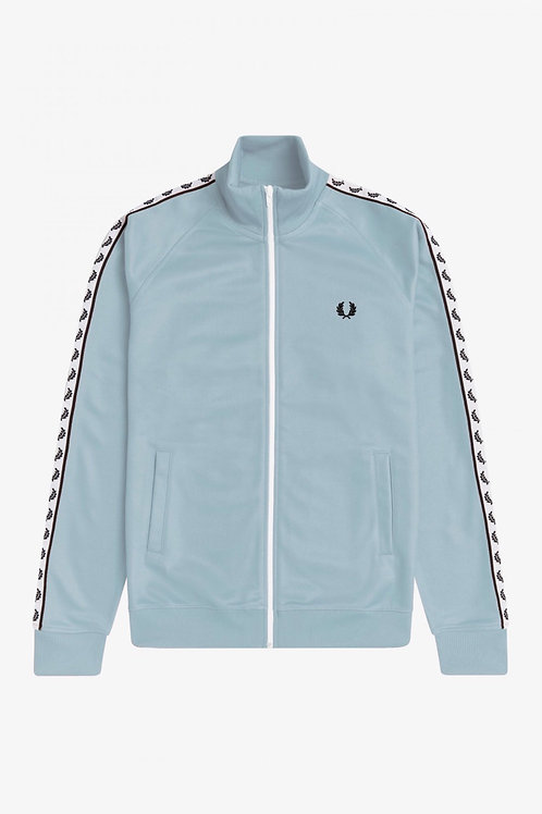 Taped Track Jacket In Chalk Blue