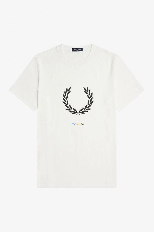 Print Registration T-Shirt In Snow White
