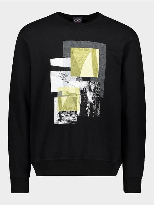 Organic Cotton Sweatshirt With Regata Stampa