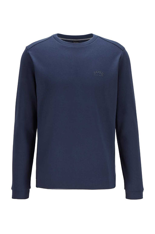 Crew-neck sweatshirt in navy