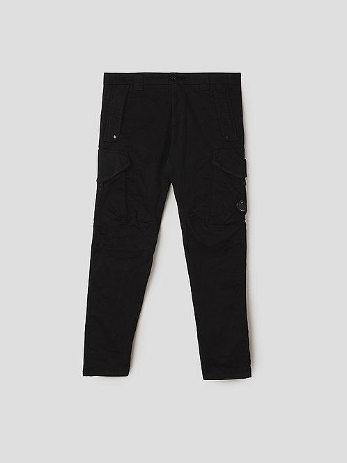 Garment Dyed Lens Utility Cargo Pants in Black
