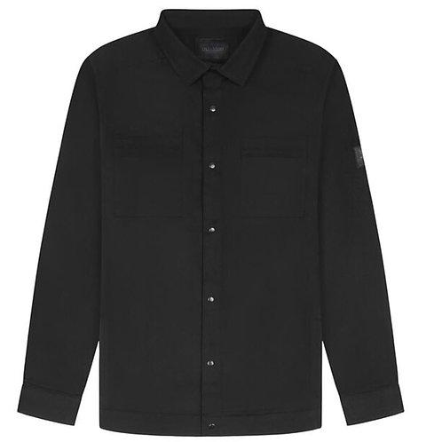 Lyle & Scott Cotton Twill Overshirt in Black