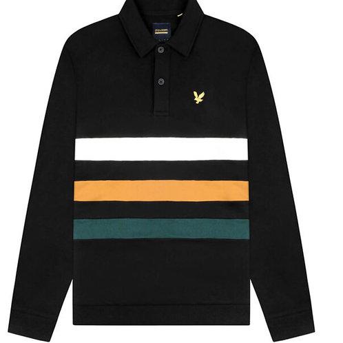 Lyle & Scott Cut and Sew Panel Sweatshirt in Black
