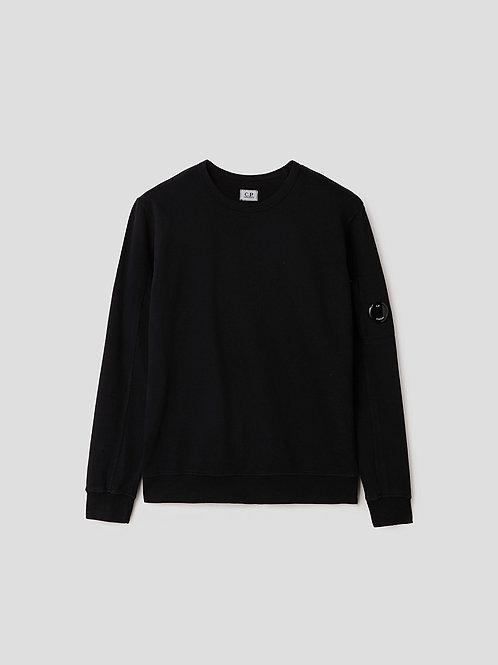 Garment Dyed Lens Sweatshirt in Black