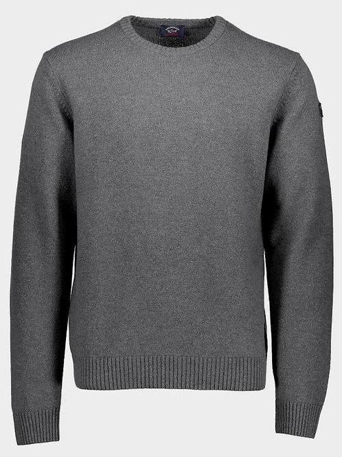 Sleeve Patch Knitwear In Grey