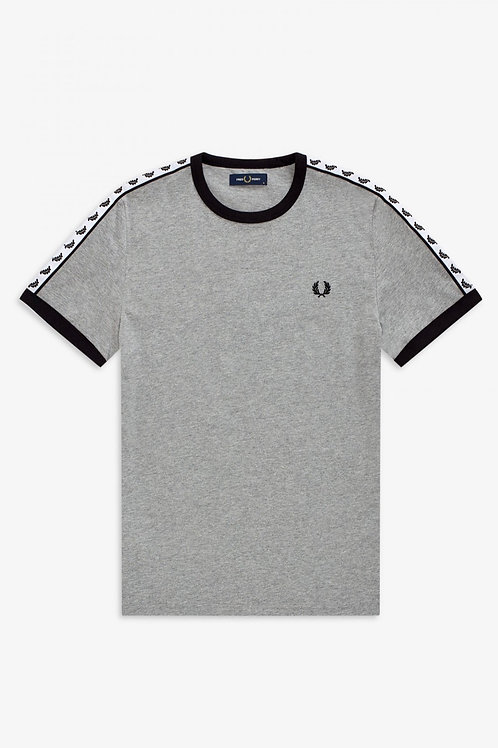 Taped Ringer T-Shirt in Steel Marl