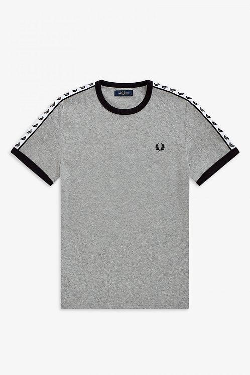 Taped Ringer T-Shirt Steel Marl
