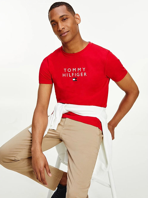 Stacked Logo T-Shirt In Red