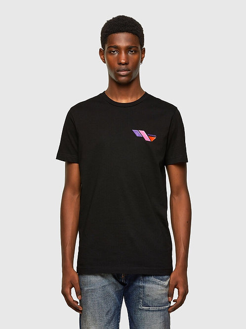Colour Block T in Black