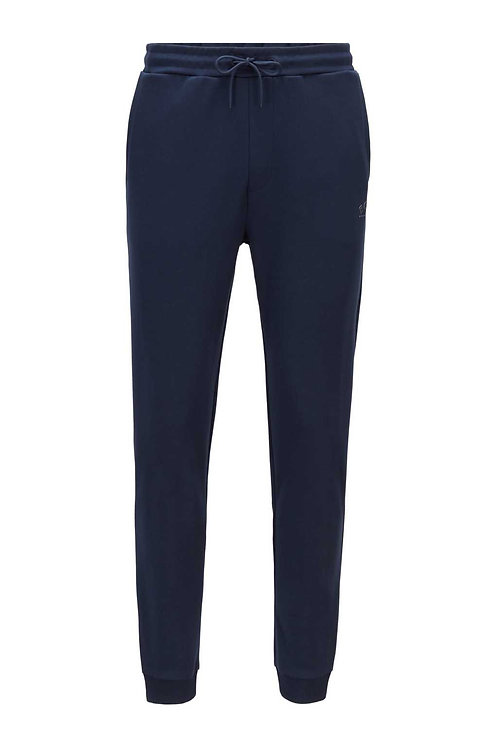 Cuffed tracksuit bottoms in navy