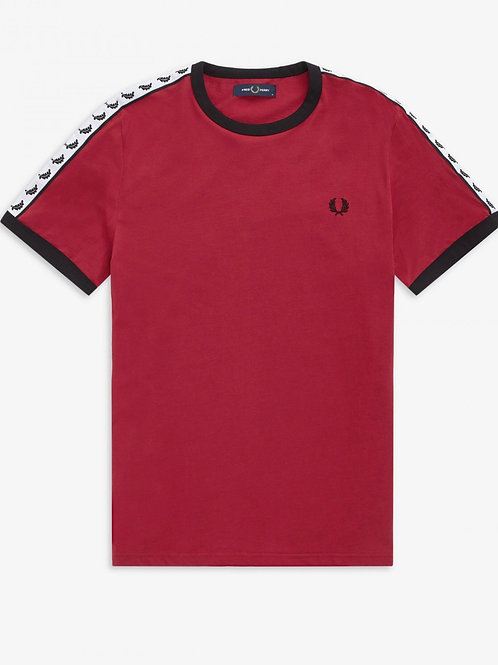 Taped Ringer T in Red