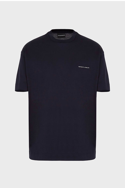 Front Logo T-Shirt in Navy