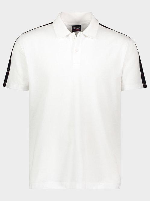 Sleeve Tape Logo Polo in White
