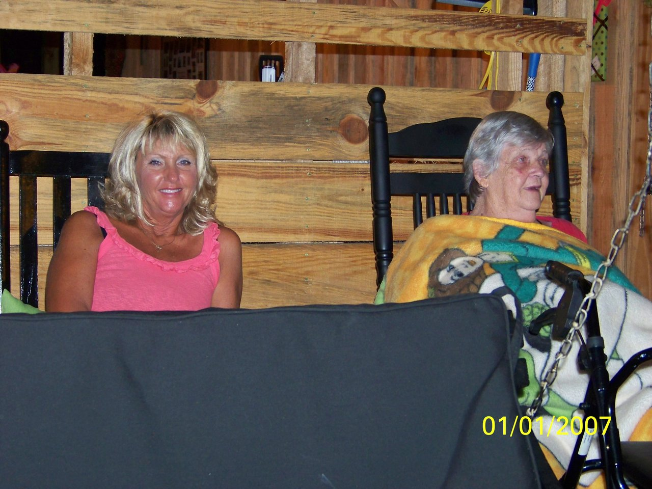Janet & Mrs. Sherrill-new tent