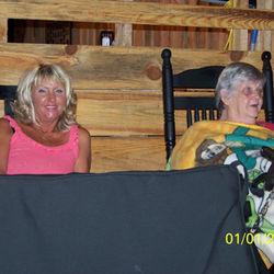 Janet & Mrs. Sherrill-new tent