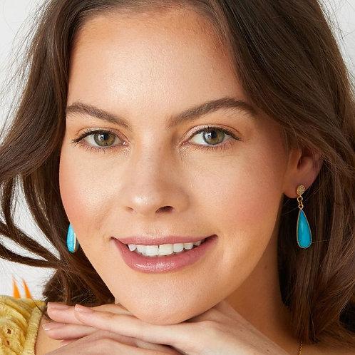 Ocean Dropstone Earrings / Turquoise