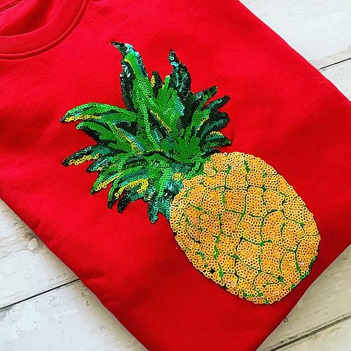 Pineapple Sweatshirt, Red