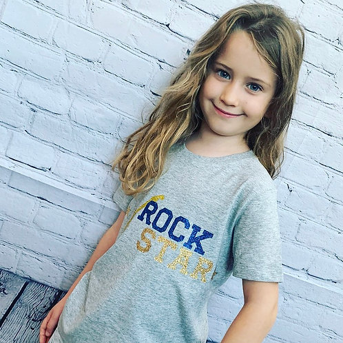 Kids Rock Star Guitar Tee / Grey