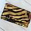 Thumbnail: Metallic Animal Print Clutch, Leather