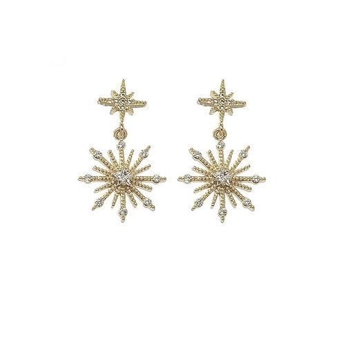 Northern Stud Earrings / Gold