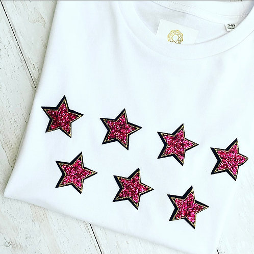 Sparkly Pink Star Tee