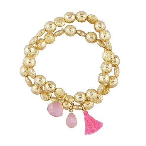 Goa Bracelets / Pink Jade