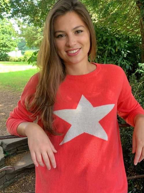 Classic Star Sweater, Coral