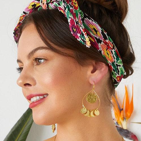 Greek Island Earrings / Gold